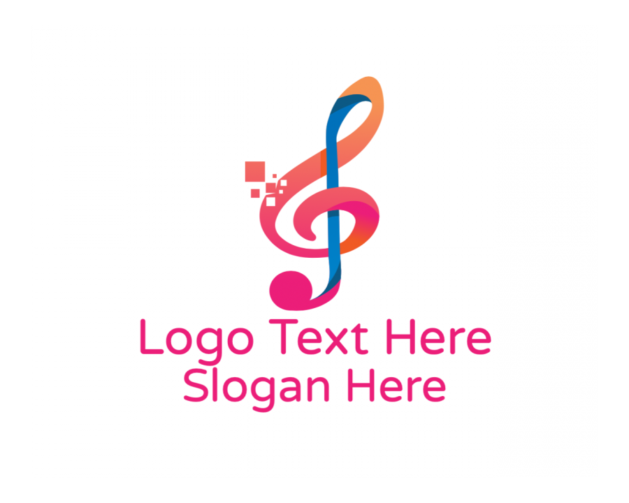 Musical Logo design with Dj and Music elements