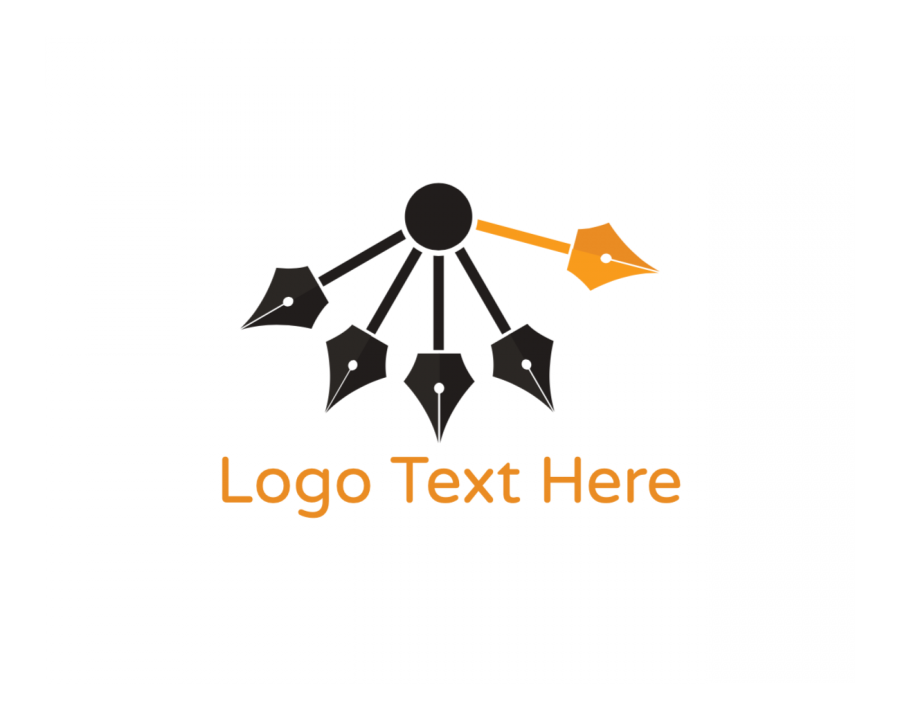 Journalism Logotype creator with Writer and Education elements