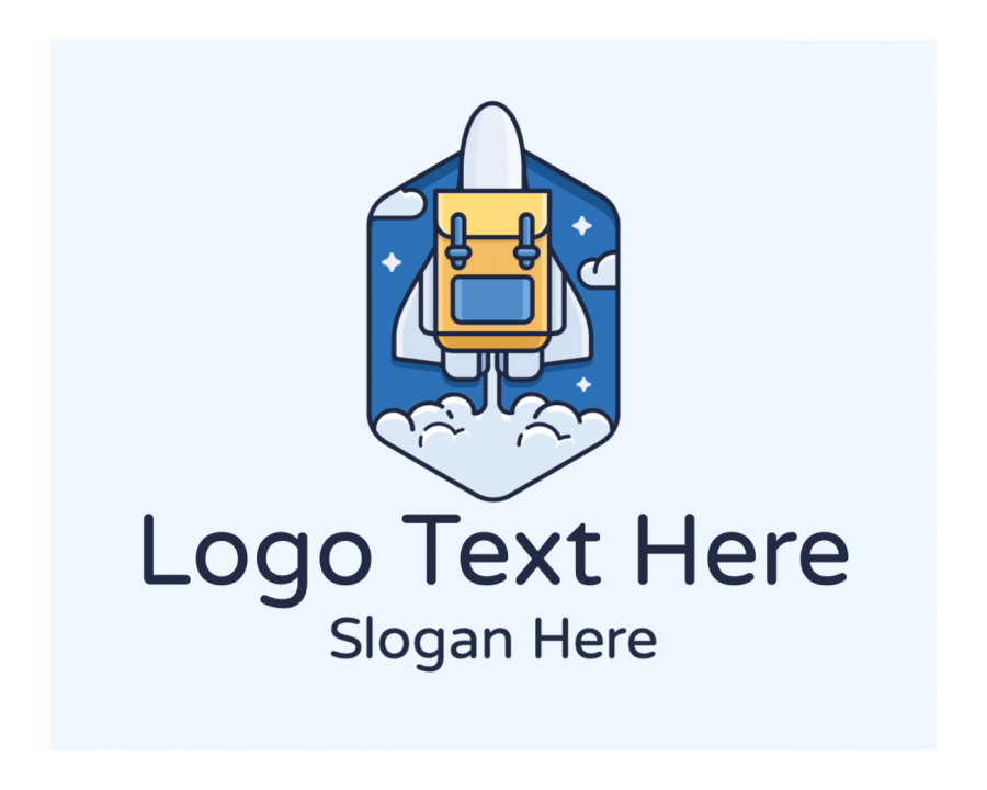 Aircraft Logo Creator with Space and Startup elements