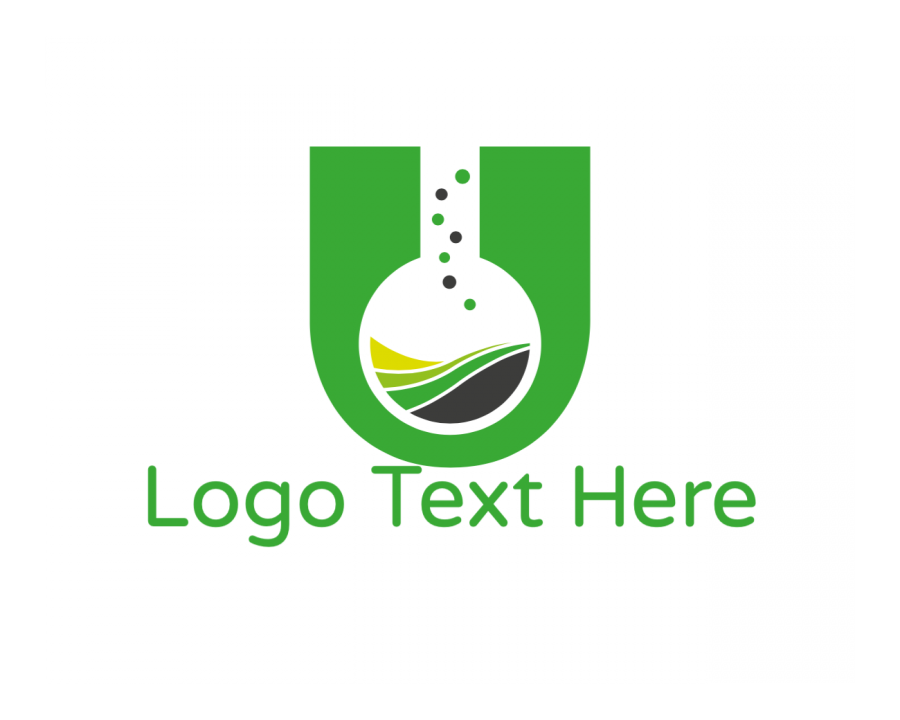 Test Tube Free logo creator with Chemistry and Green elements
