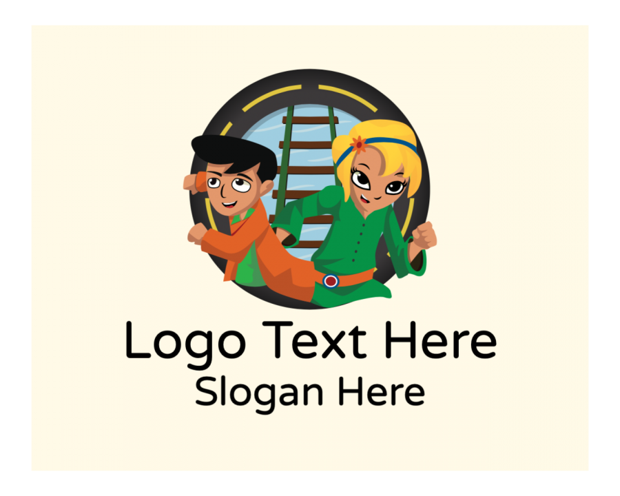 Play Logotype creator with Learning and Education elements