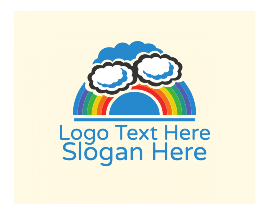 Cloud Online logo template with Kid and Colorful elements
