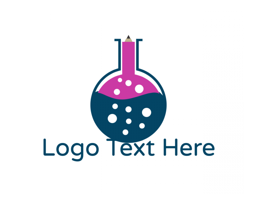 Scientist Logo Maker with Chemistry and Education elements