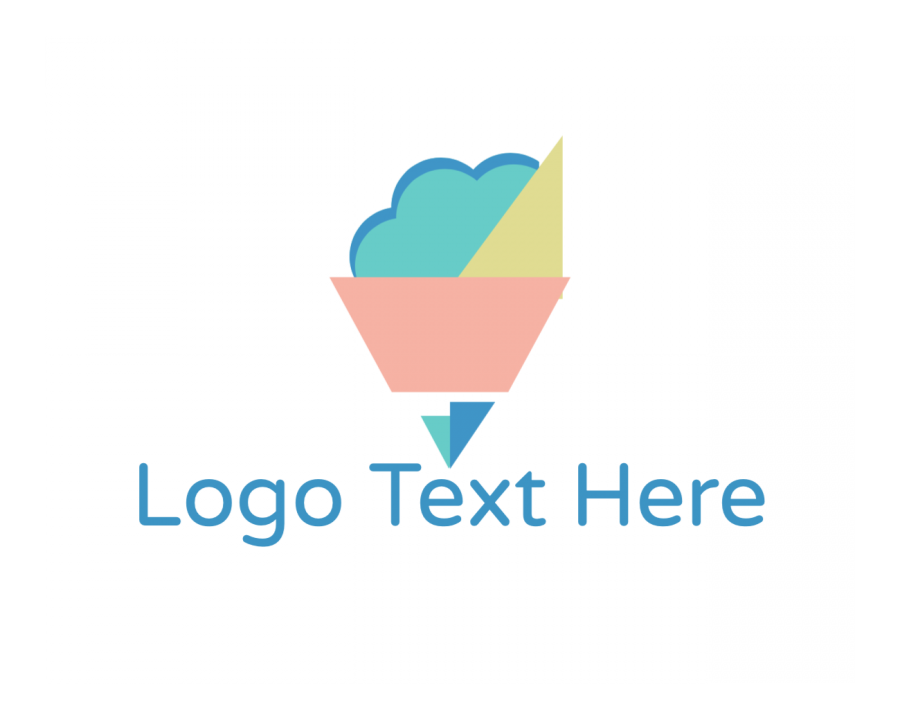 App Logo generator online with Geometric and Software elements