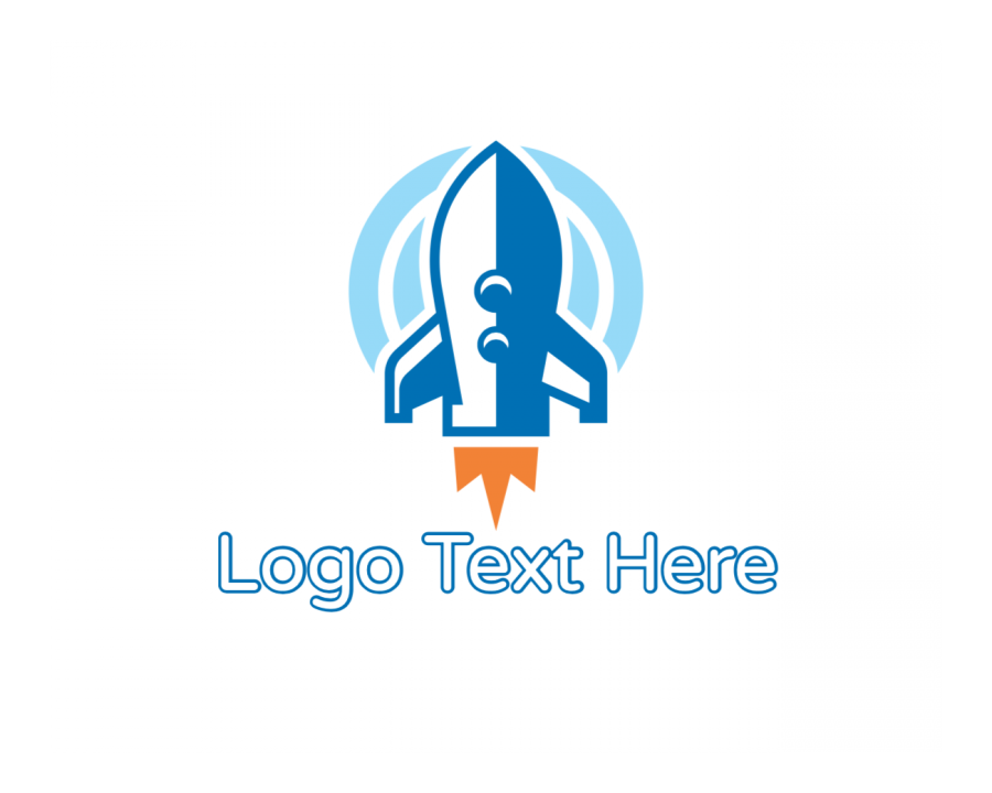 Aircraft Online Logo Creator with Rocket and Blue elements