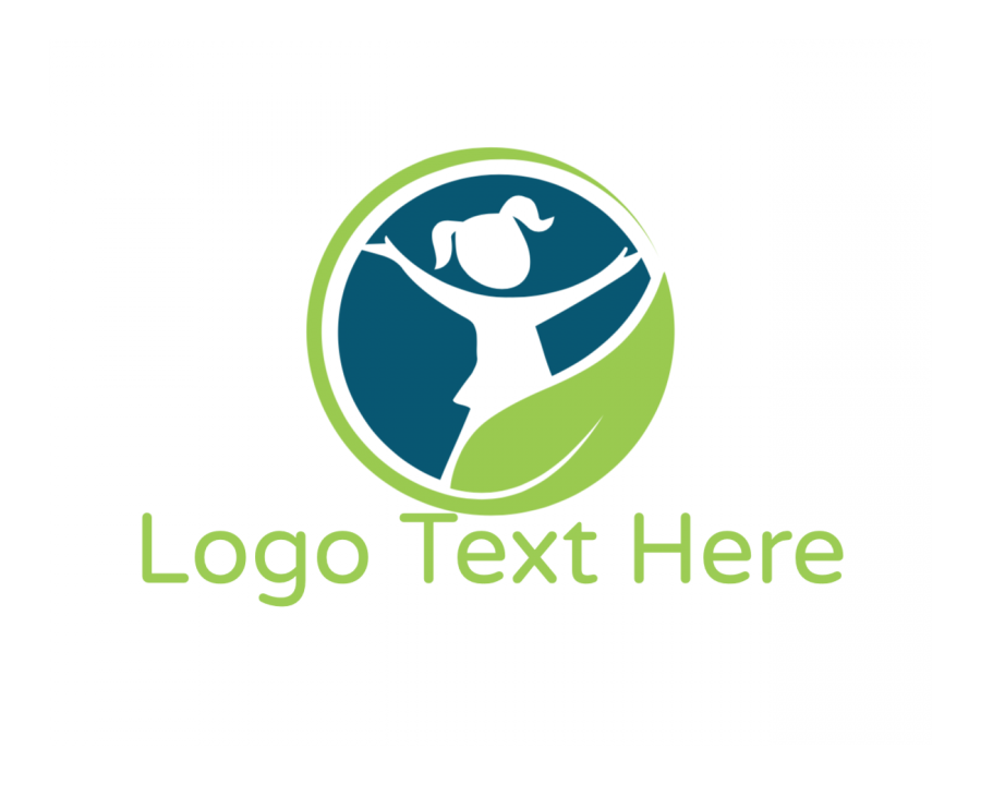 Kid Online Logo Maker with Ecology and Education elements