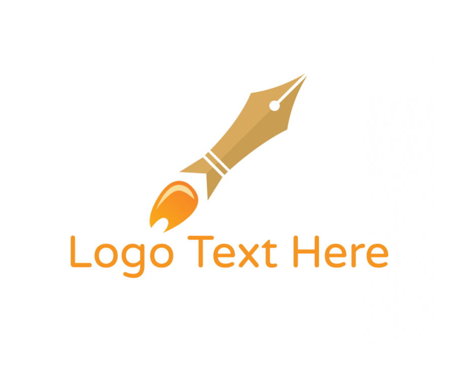 Pen Logo Maker with Write and Agency elements