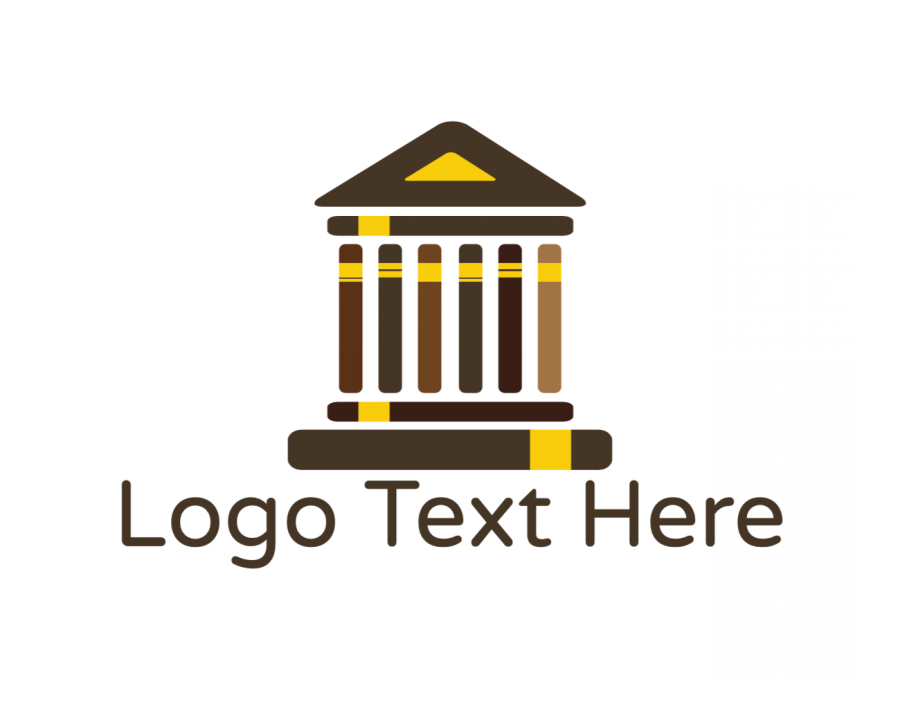 Attorney Logo symbol with Legal and House elements