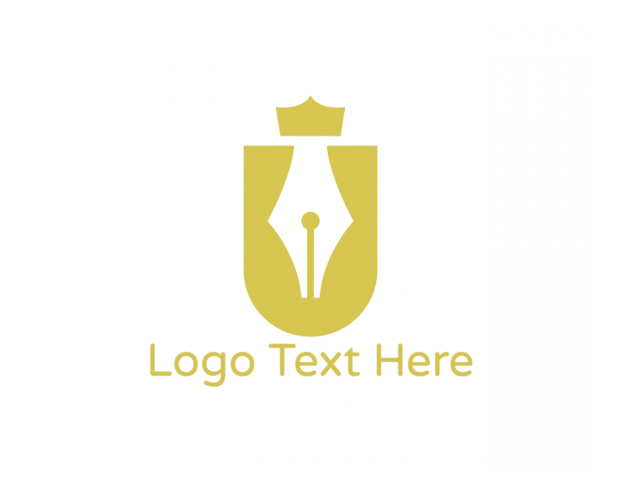 Royalty Online logo template with Crown and Golden elements