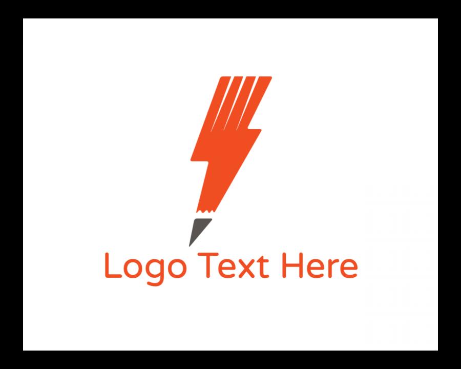 Blogger Logo generator online with Blog and Orange elements