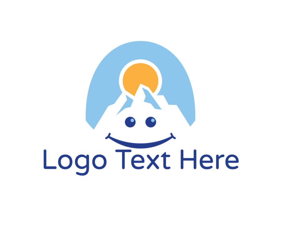 Mountain Logotype creator with Happy and Education elements