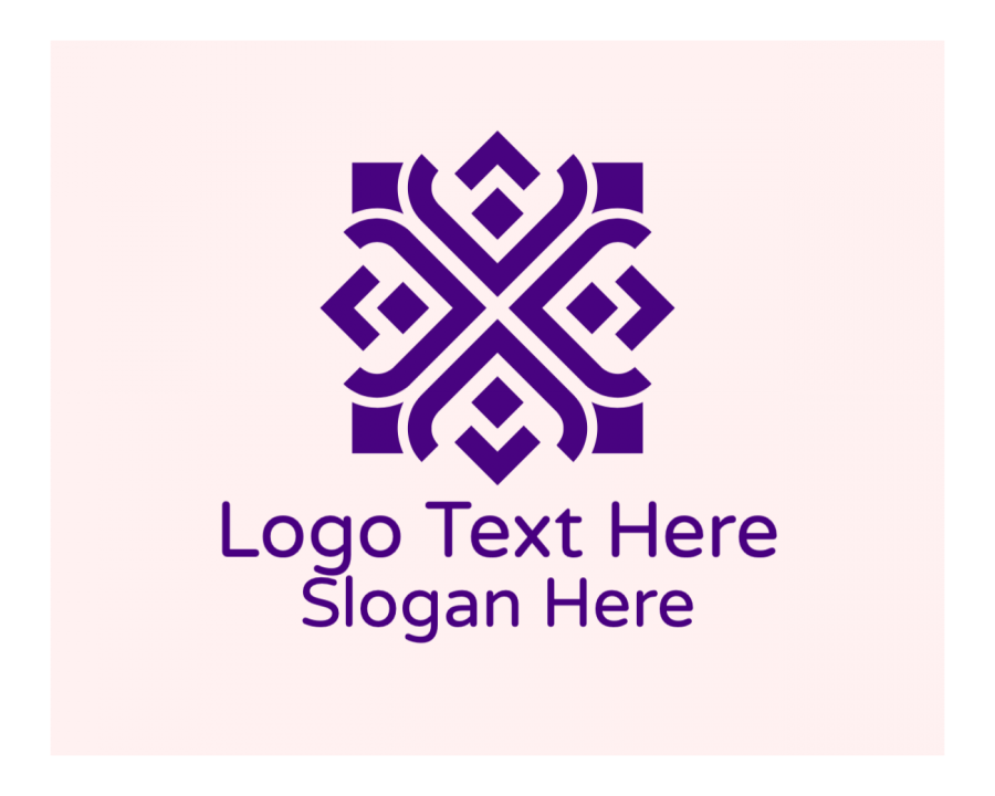 Wedding Planner Logo Symbol with Pattern and Fashion elements