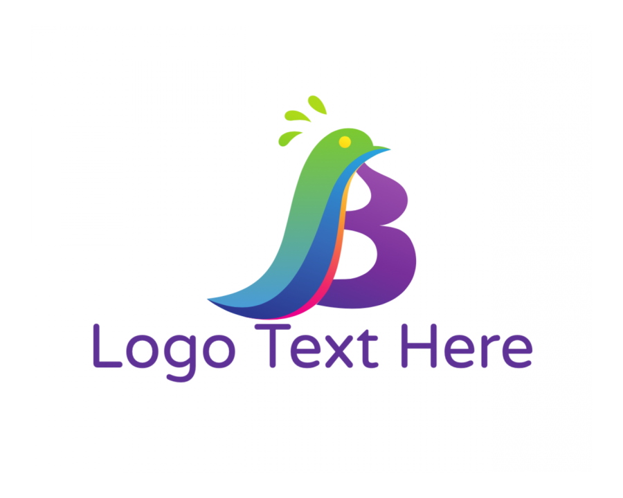 Flying Logo Maker with Pigeon and Fashion elements