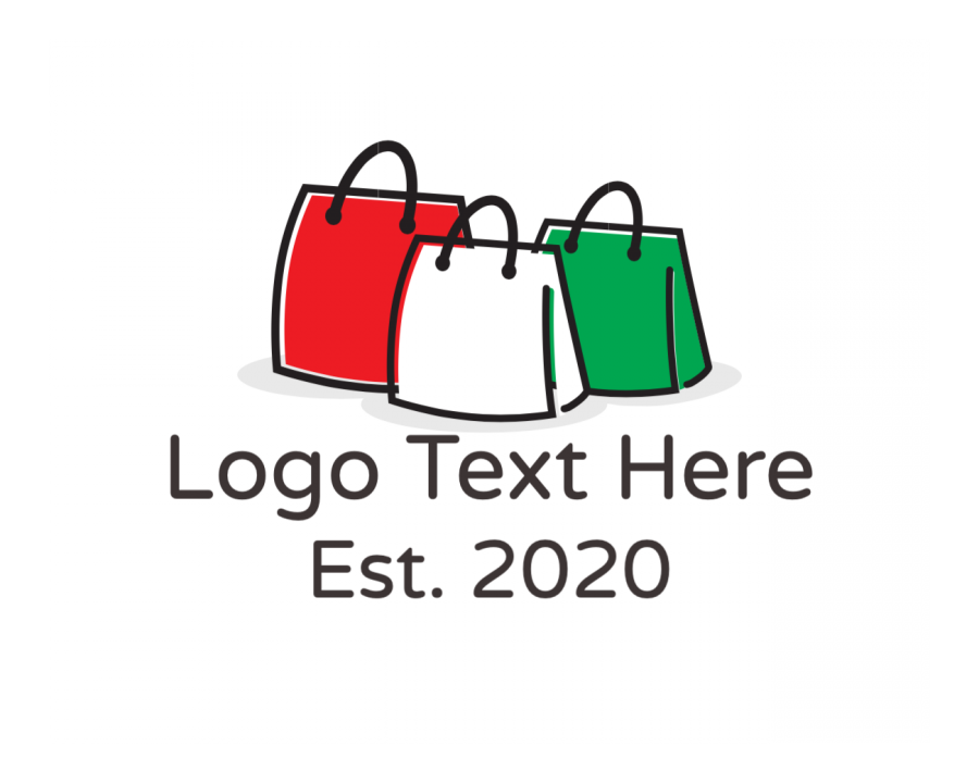 Bag Logo generator online with Shop and Fashion elements