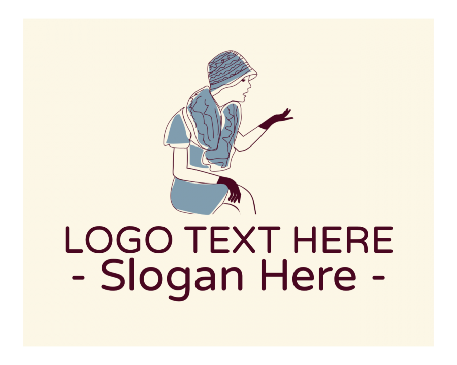 Fashion Design Logo Designer with Vintage and Fashion elements