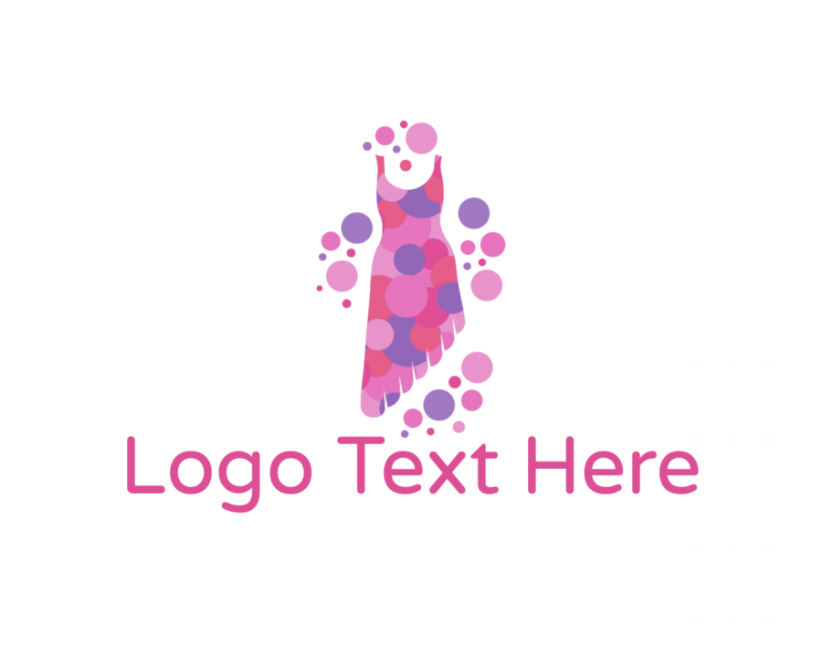 Gown Free logo design with Dress and Fashion elements