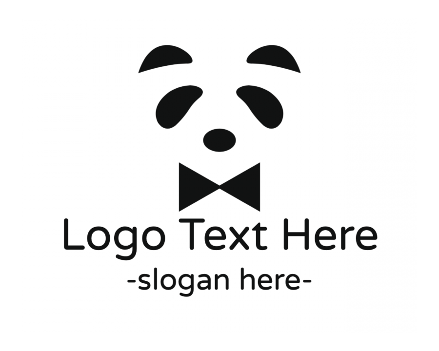 Bowtie Logotype creator with Panda and Fashion elements