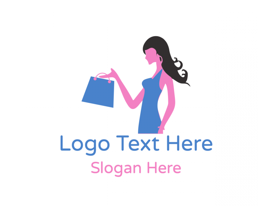 Women Logo Designer with Girl and Fashion elements