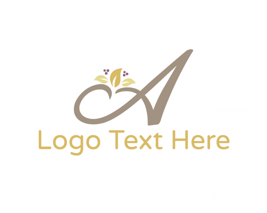 Floral Free logo design with Flower and Fashion elements