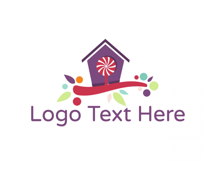 Candy Shop Logo Designer with Sugar and House elements