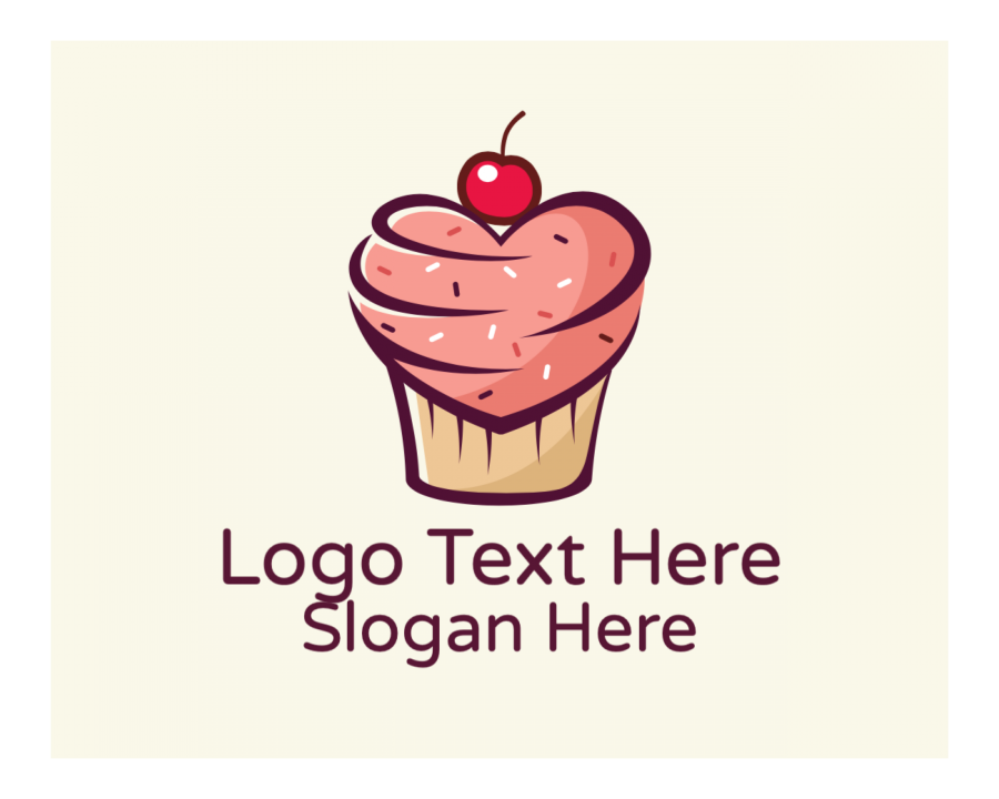 Confectionery Online Logo Creator with Cake and Heart elements