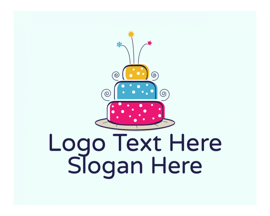 Birthday Logo Designer with Dessert and Colorful elements