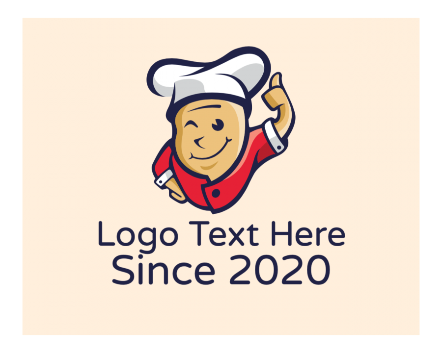 Cuisine Online Logo Maker with Chef and Restaurant elements
