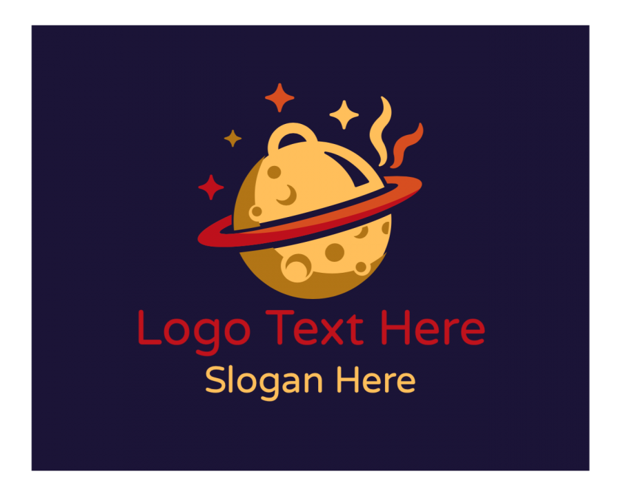 Delivery Online logo generator with Planet and Restaurant elements