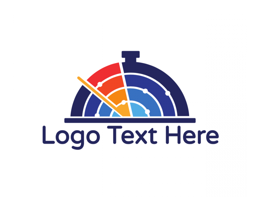 Chef Logo Symbol with Radio and Technology elements