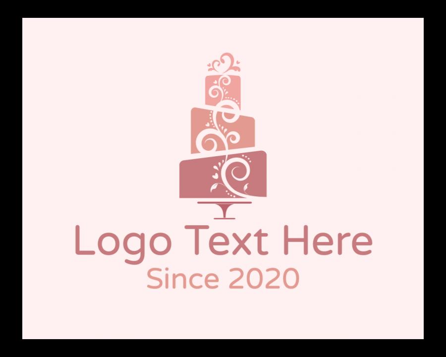Birthday Logo Designer with Dessert and Ornamental elements