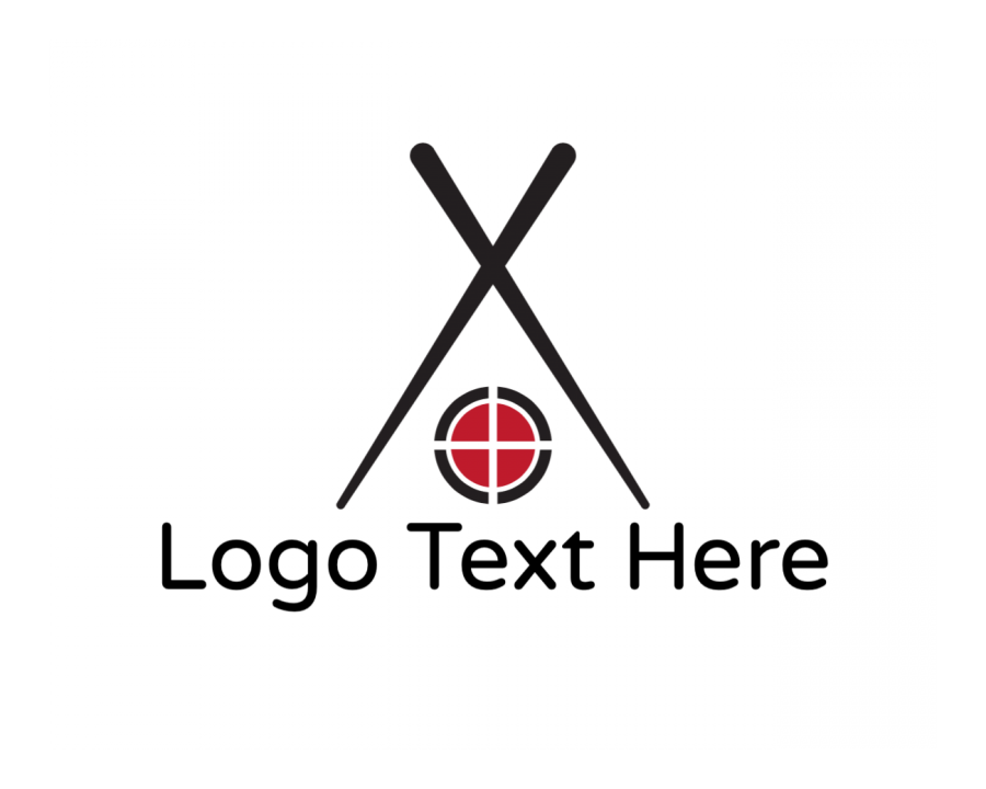 Chopsticks Logo Maker with Japanese and House elements