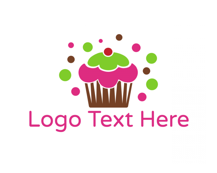 Bakery Logo symbol with Birthday and Colorful elements