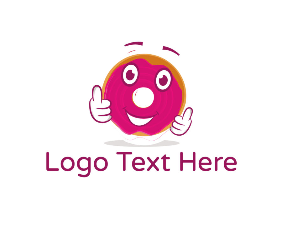 Bakery Online logotype maker with Doughnut and Pink elements