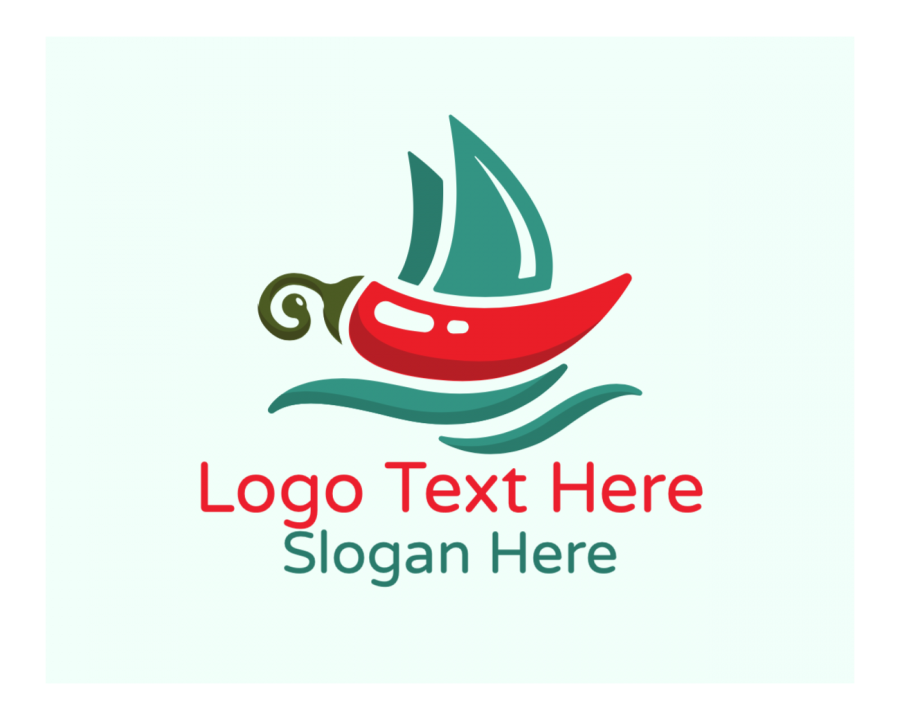 Sailing Online logo template with Kitchen and Restaurant elements