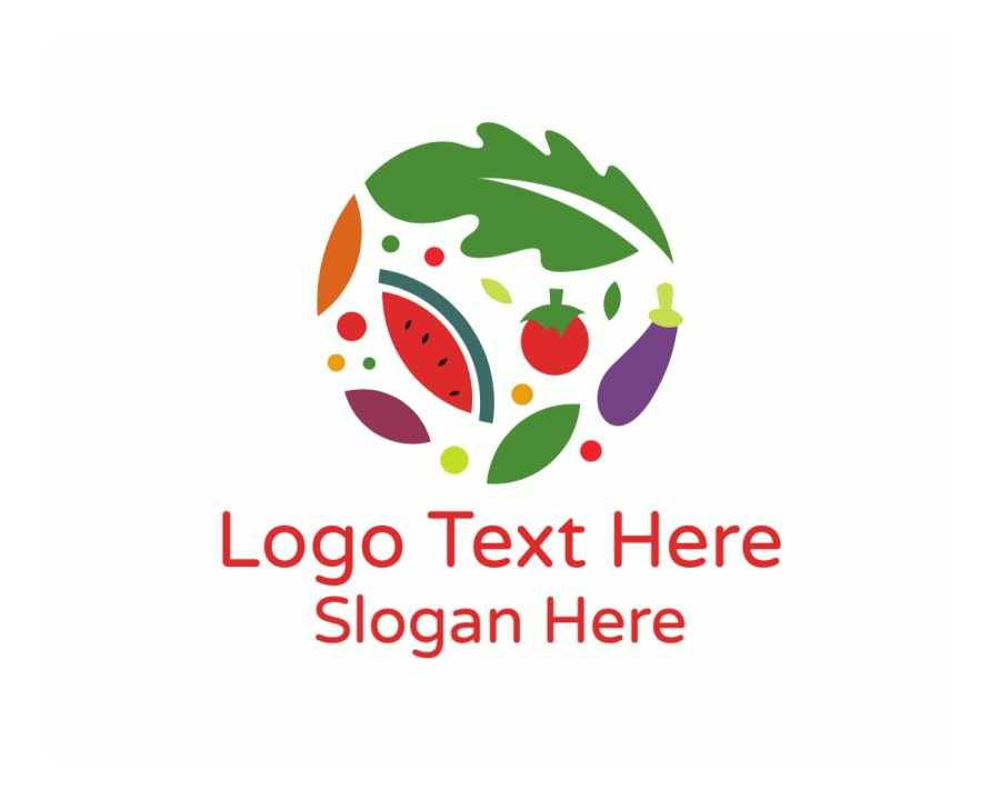 Health Online Design Maker with Food and Farm elements