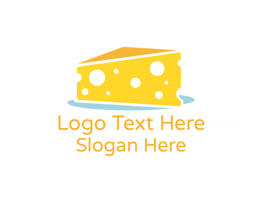 Cheddar Online logo template with Cheese and Restaurant elements
