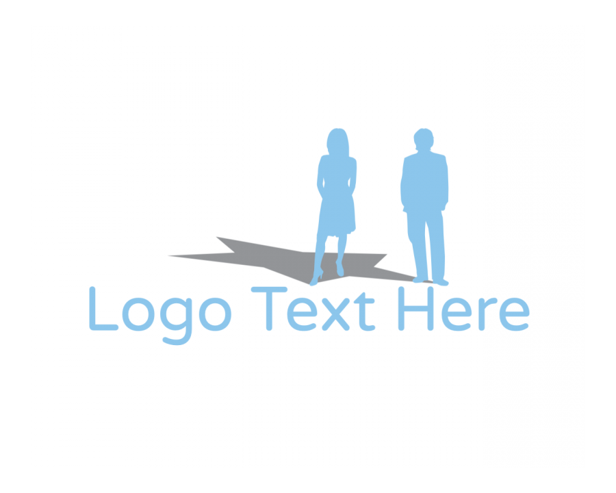 Charity Online logo template with Group and Blue elements