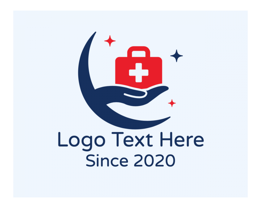Cross Free logo design with Clinic and Star elements