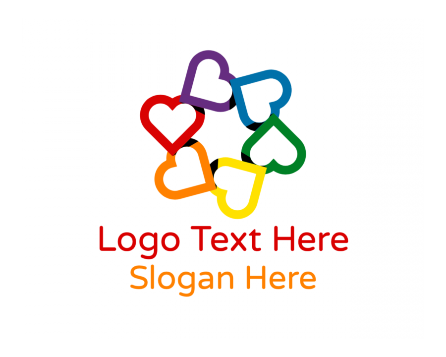 Care Logotype creator with Charity and Colorful elements