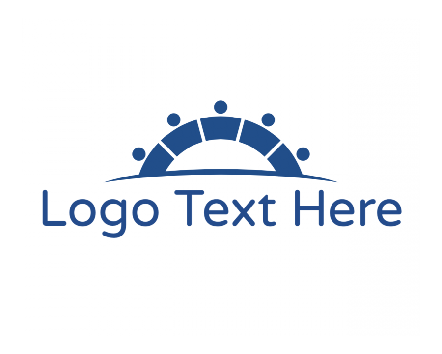 Entertainment Online Logo Generator with Blue and Technology elements