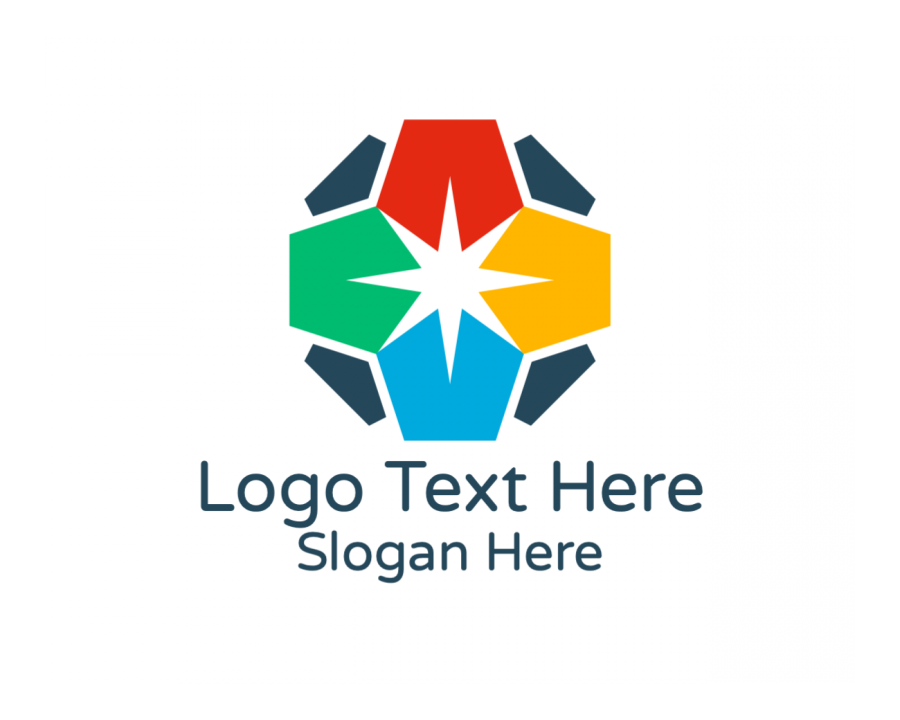 Negative Space Online logo template with Organization and Simple elements