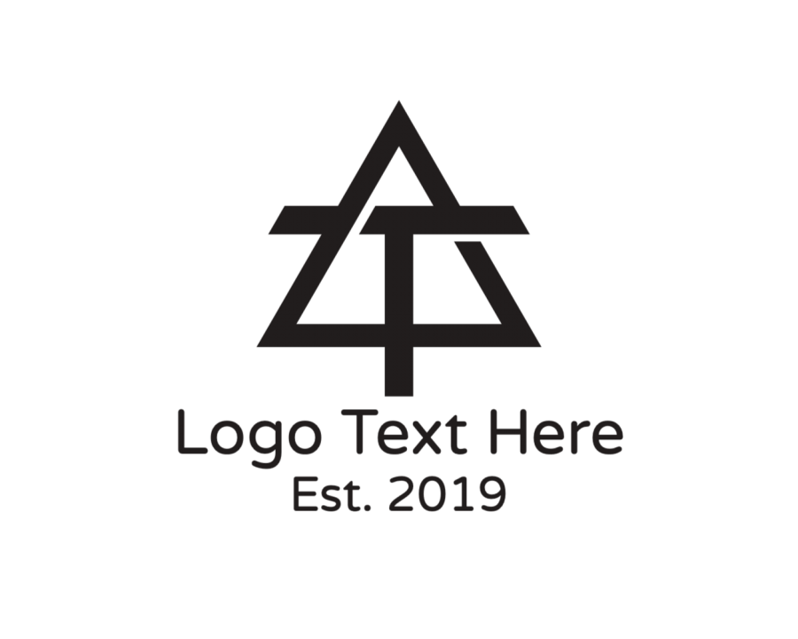 Initial Logo Maker with Black and Lettermark elements