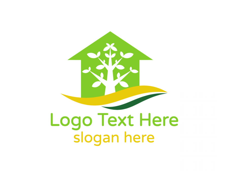 Plant Logo design with Property and Green elements