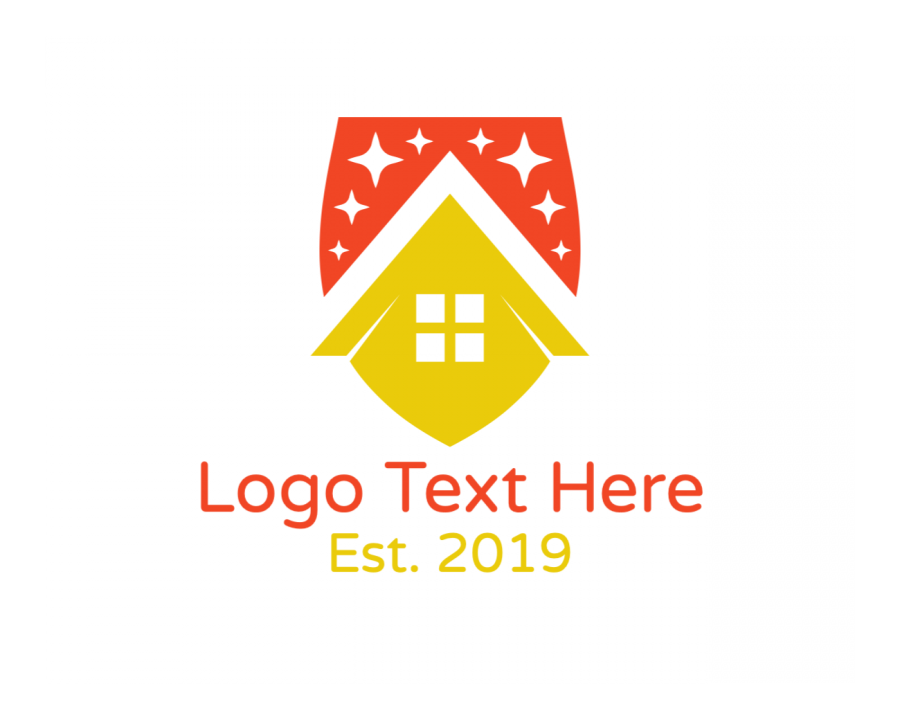 Real Estate Online Logo Maker with Star and Abstract elements