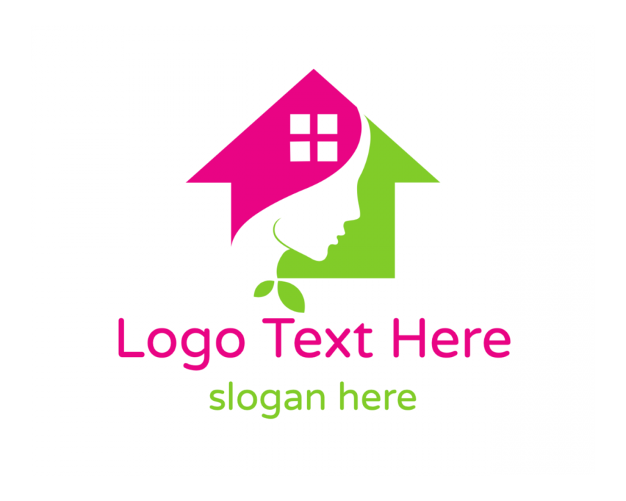 Construction Logo template with Home and Spa elements