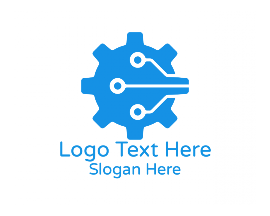 Construction Online logo template with Automotive and Technology elements