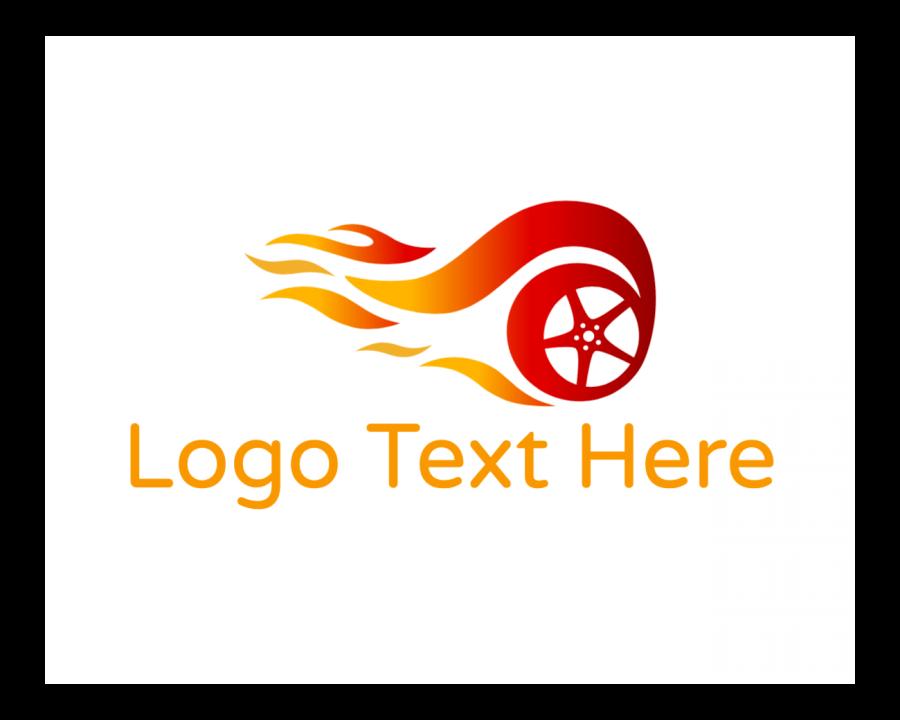 Burn Logo Generator with Wheel and Automotive elements