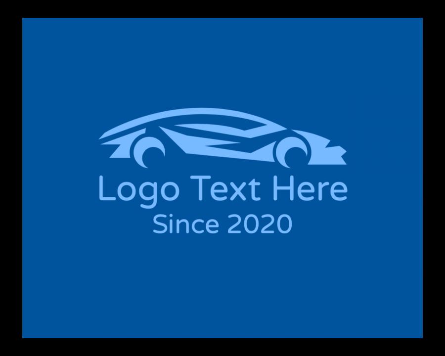 Car Logo Maker with Motorsport and Blue elements