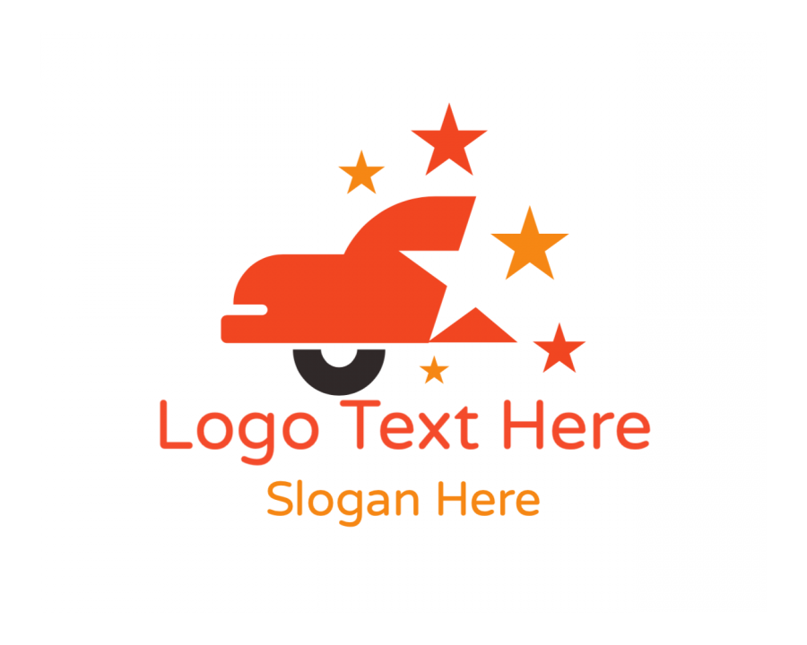 Auto Logo generator online with Car and Orange elements
