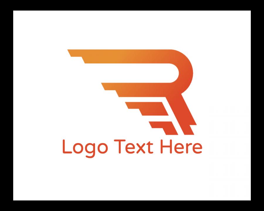 Sports Logo Symbol with Symbol and Orange elements